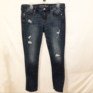 American Eagle Distressed Stretch Skinny Jeans 14
